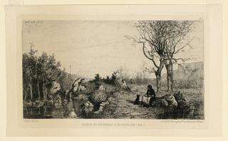 Print, Bords du Ruisseau à Rossillon, 1867