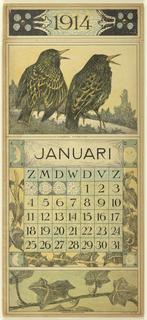 Calendar, 1914