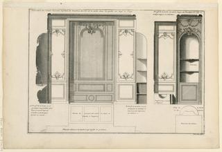 Print, Panelling of the Bathroom, ca. 1727