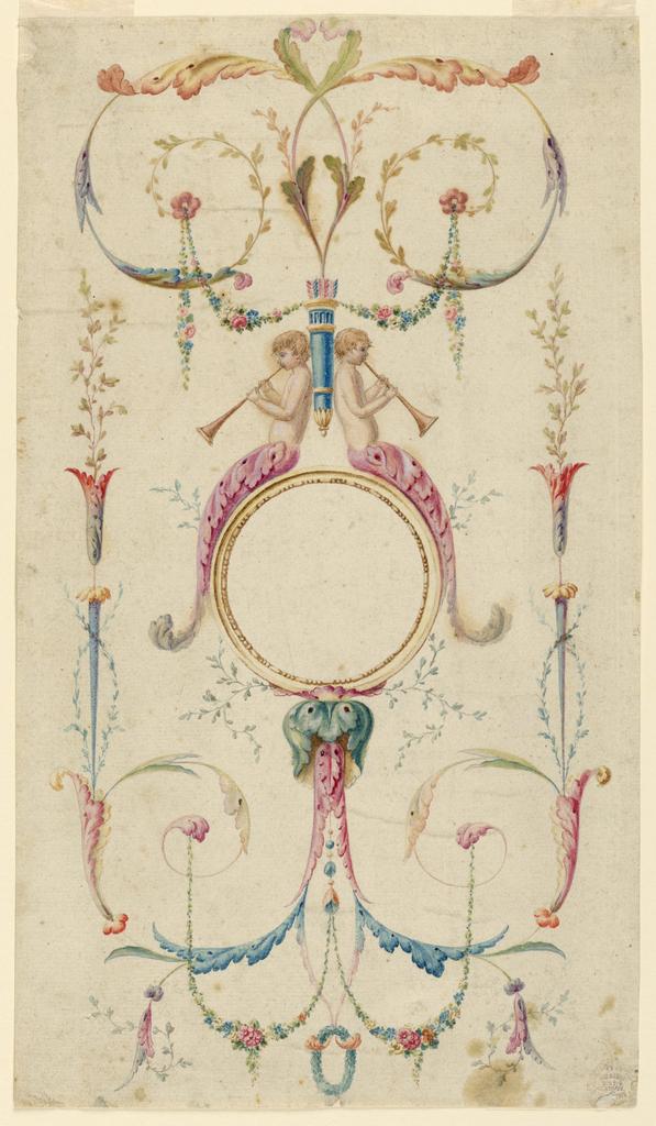 Drawing, Panel Decoration, ca. 1780