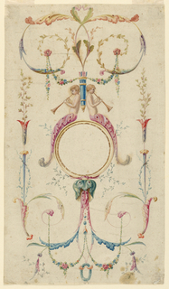 Drawing, Panel Decoration, ca. 1780