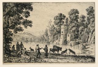 Print, Dance on the River-bank, 1634