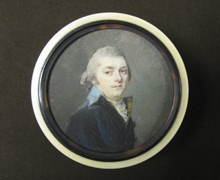 Box Mounted With A Portrait Miniature, ca. 1795