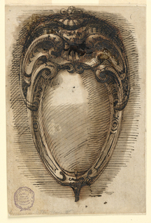 Design for an oval escutcheon.