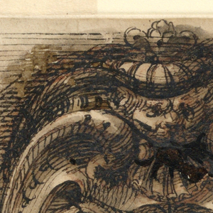 Design for an oval escutcheon.