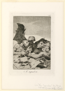 Print, Los Caprichos, plate 51