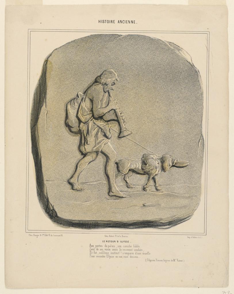 Print, Le Retour d'Ulysse, plate 7 from the Histoire Ancienne