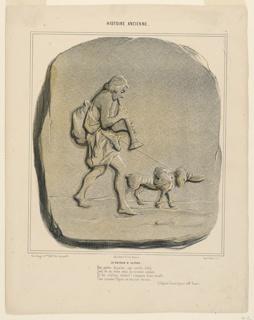 Print, Le Retour d'Ulysse, plate 7 from the Histoire Ancienne, 1842