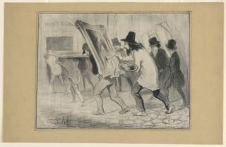Print, Le Dernier Jour de la Reception des Tableaux, from Charivari
