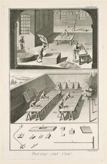 """Print, Doreur sur Cuir, from """"Encyclopédie ou Dictionnaire Raisonné des Sciences, des Arts et des Métiers"""""""
