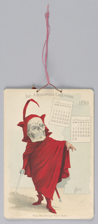 1898 Calendar bound by string 3-1: January/February 3-2: March/April 3-3: May/June 3-4: July/August 3-5: September/October 3-6: November/December