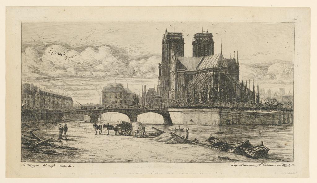 Print, L'Abside de Notre-Dame de Paris (The Apse of Notre-Dame, Paris)