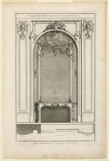 Print, Plate 1, Decoration de Cheminée pour un grand Apartement