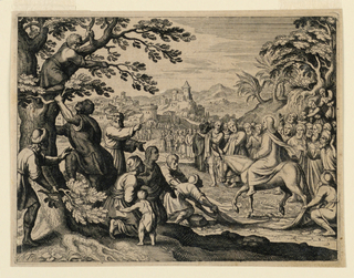 Print, Christ's Entry into Jerusalem, ca. 1650