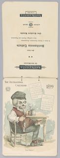 1899 Calendar bound by string 2-1: January/February 2-2: March/April 2-3: May/June 2/4: July/August 2/5: September/October 2/6: November/December