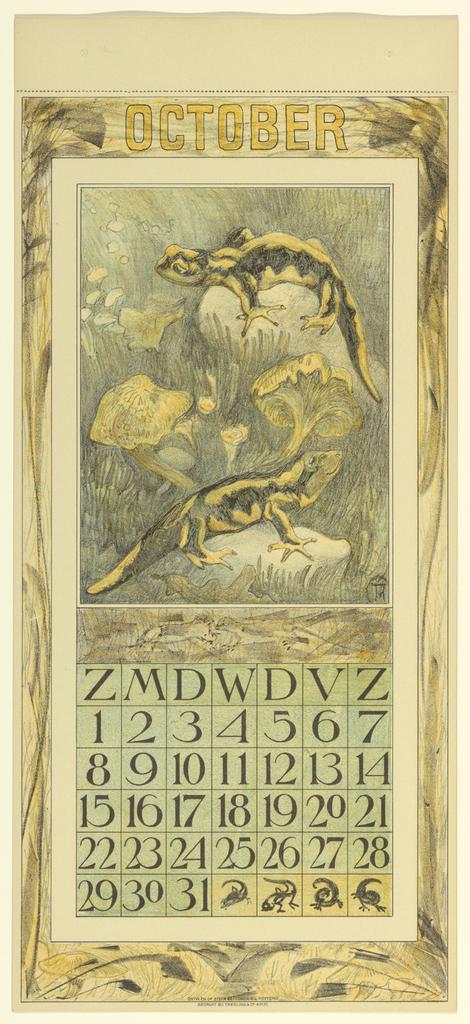 Print, Design for a Calendar (September)