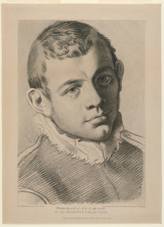 Portrait of Annibale Carracci after Carracci, facing frontally and slightly to the right.