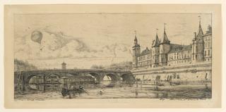 Print, Le Pont-au-Change (The Exchange Bridge)