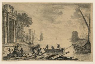 Print, Harbour Scene, 1634