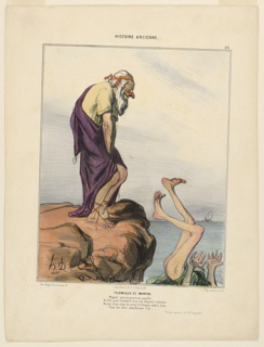 Print, Telemaque et Mentor, plate 29 from the Histoire Ancienne, 1842