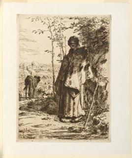 Print, Shepherdess Knitting