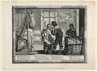 Print, Le Barbier, from Les Metiers series  [The Barber,  from The Trades series]
