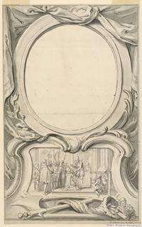 Drawing, Design for Frame Surrounding the Portrait of Edward Seymour, Duke of Somerset