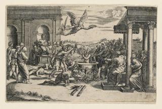 Print, Martyrdom of Saint Cecilia