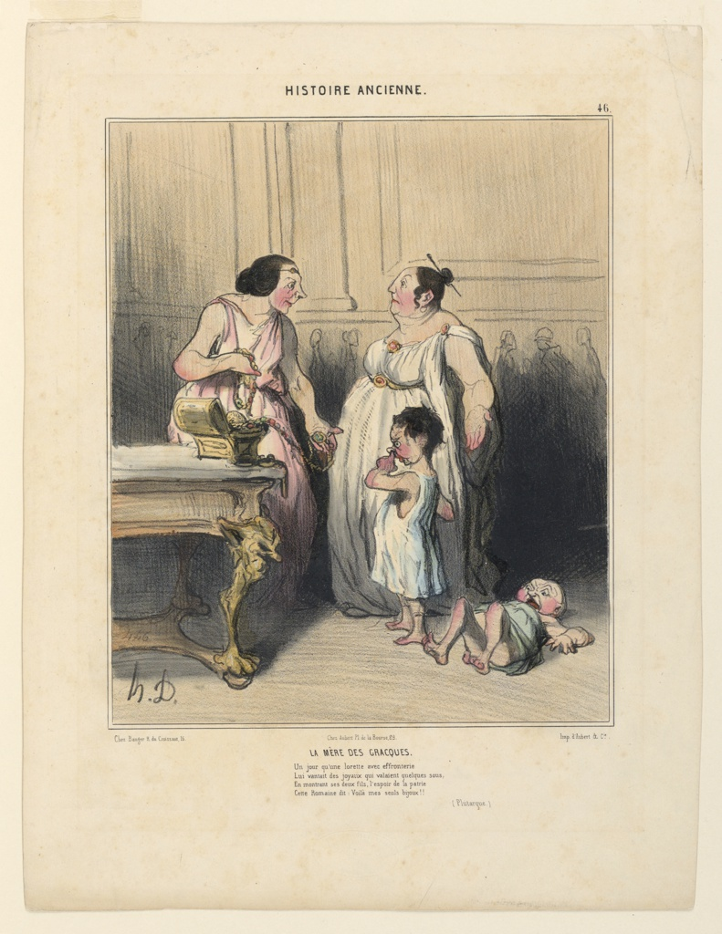 Print, La Mere des Gracques, plate 46 from the Histoire Ancienne