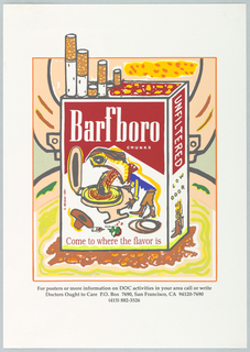 "Poster, ""Barfboro"", 1991"