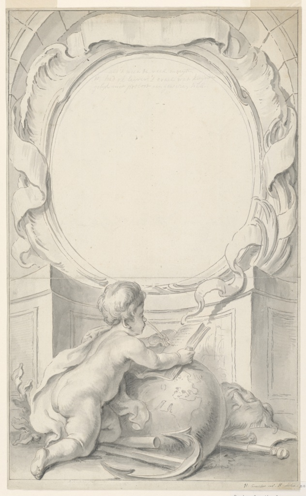 Drawing, Design for Frame Surrounding the Portrait of Sir Walter Raleigh