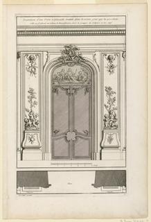 """Print, Plate 6, """"Decoration d'une Portal double à placards, traittée dans la même gout..."""""""