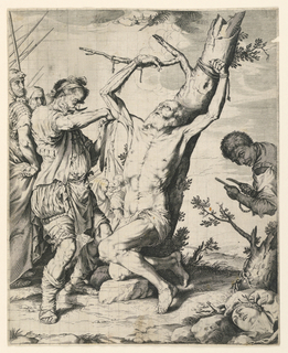 Print, Martyrdom of St. Bartholomew, 1624