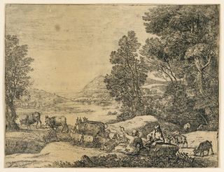 Print, Shepherd and Shepherdess Conversing in a Landscape, ca. 1651