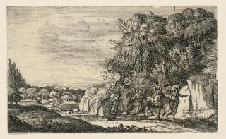 Print, Flight into Egypt, ca. 1630–1631
