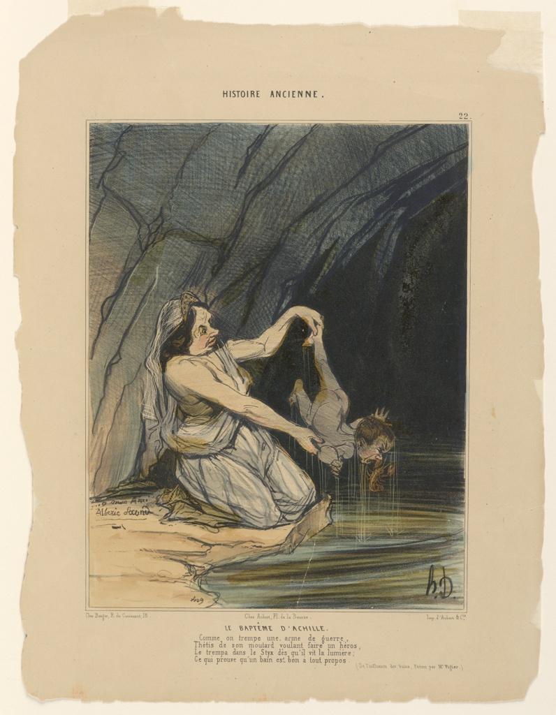 Print, La Bapteme d'Achille, plate 22 from the Histoire Ancienne