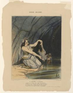Print, La Bapteme d'Achille, plate 22 from the Histoire Ancienne, 1842