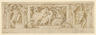 Drawing, Frieze, Combat of Animals