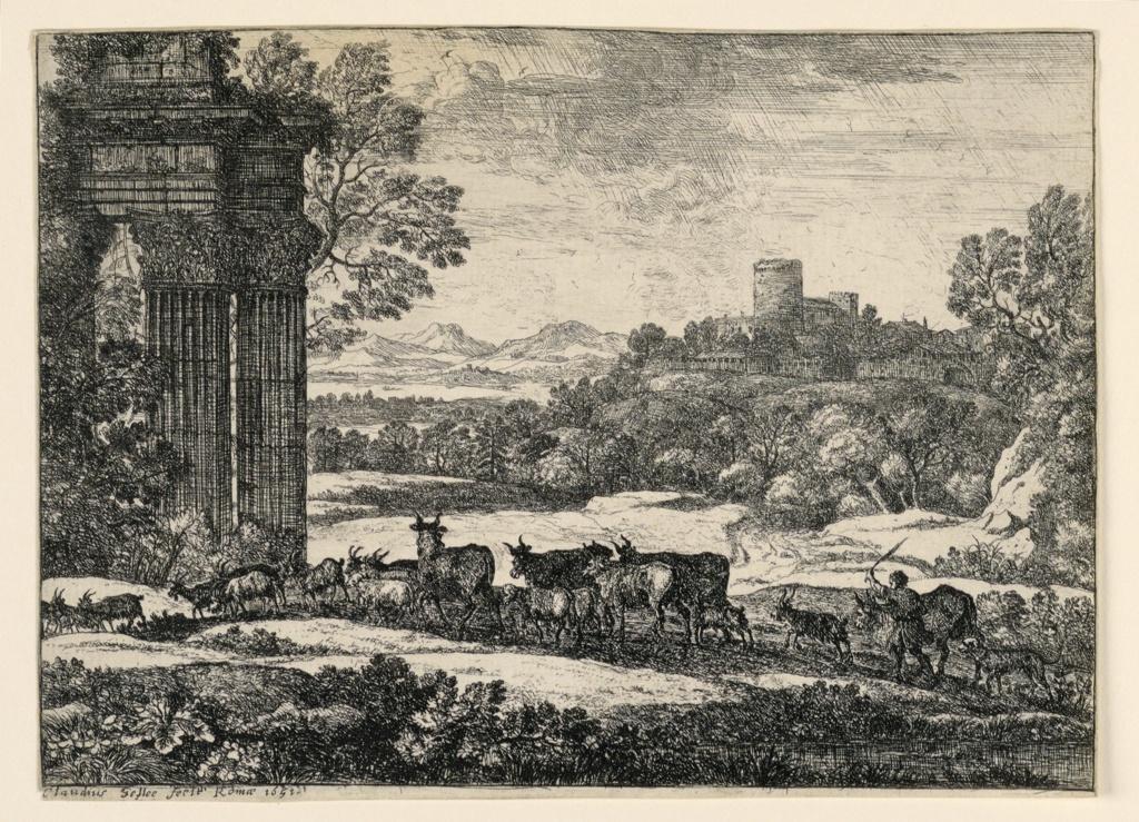 Print, Cattle Driven Home Through a Storm, 1650–1651