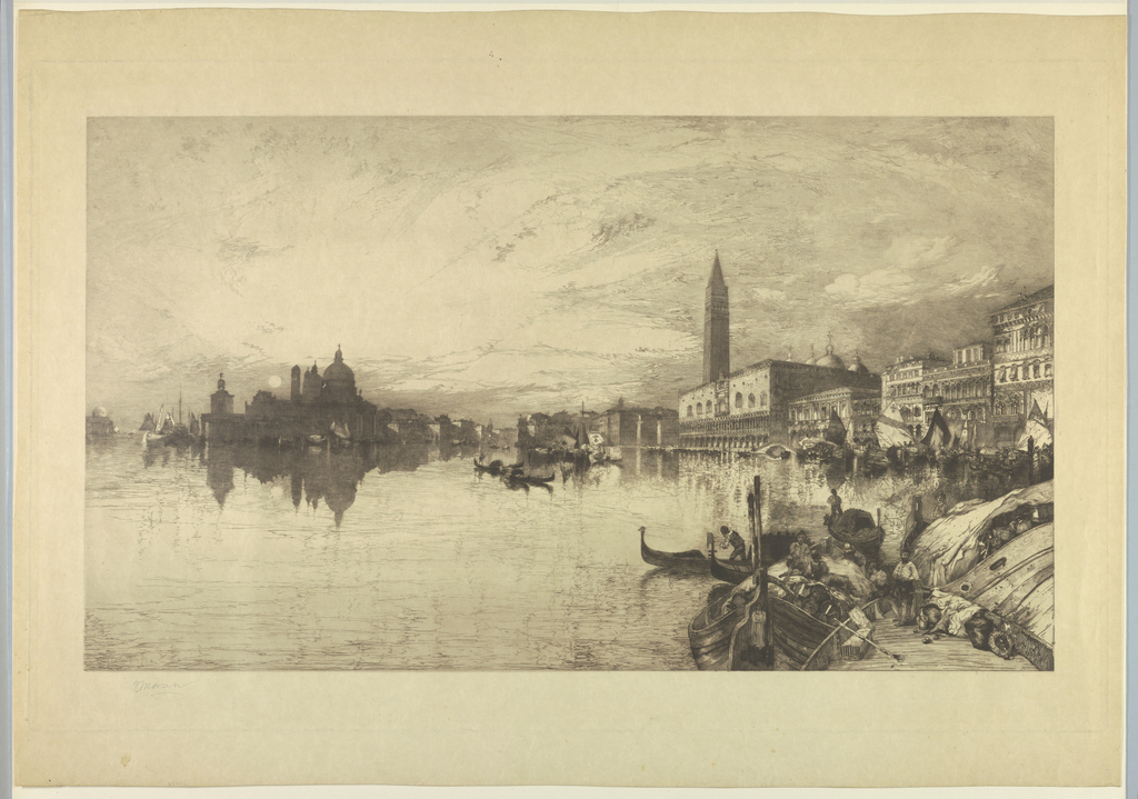 Horizontal view of Venice from the Grand Canal.
