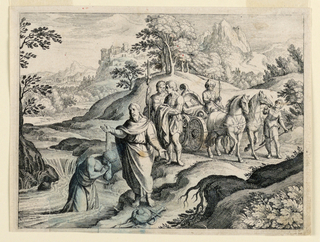 Print, Philip Baptizing the Ethiopian, ca. 1650