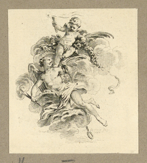 Print, Hymen and Putto, 1758