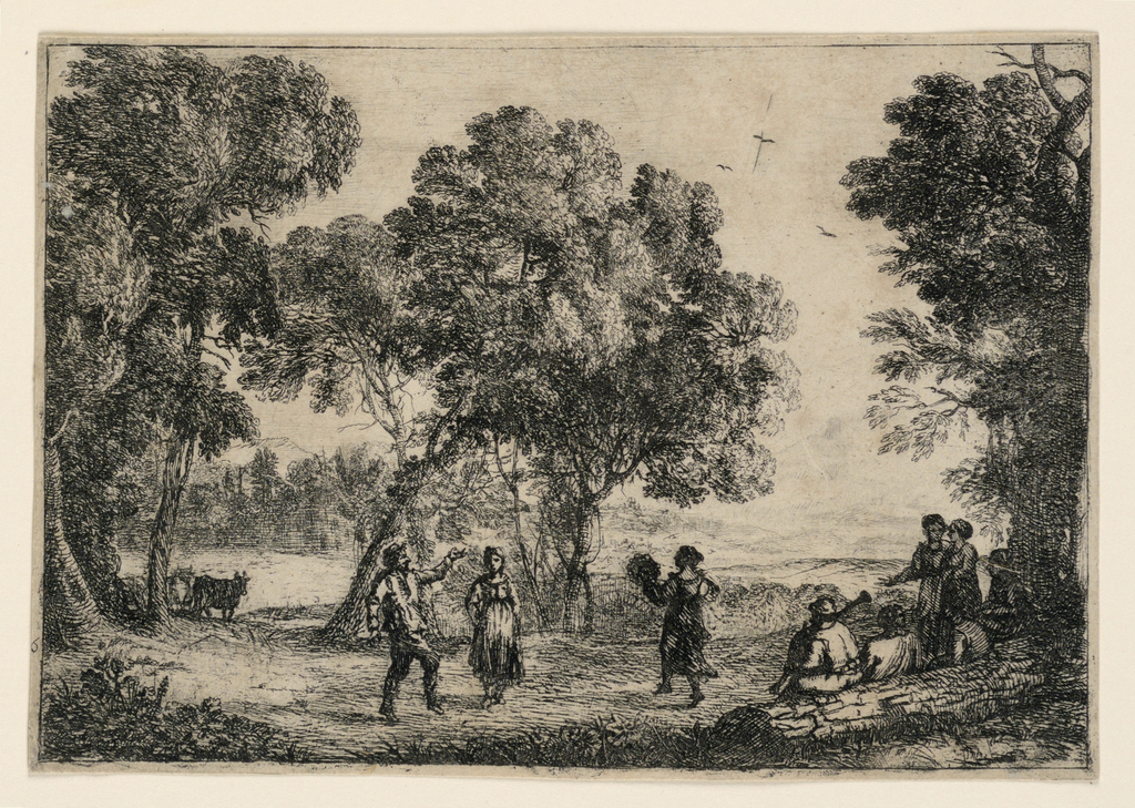 Print, The Country Dance, 1637