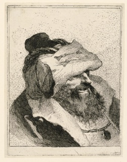 Print, Man with beard and with his cap turned up in front, from the Raccolta di Teste