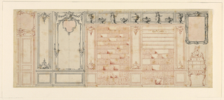 Drawing, Design for a Library Wall