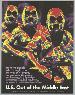 Heat-sensitive or infrared photograph of figures of soldiers For the Prairie Fire Organizing Committee.
