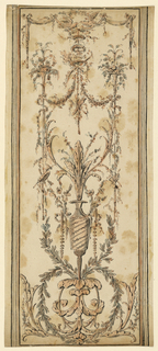 Drawing, Design for a decorative panel