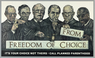 Print of Supreme Court Justices For Planned Parenthood
