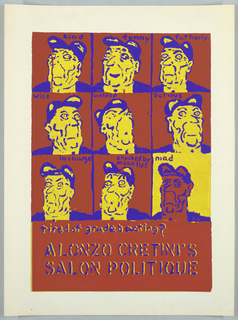 Nine images of Ronald Reagan in various moods for Alonzo Cretini's Salon Politique.