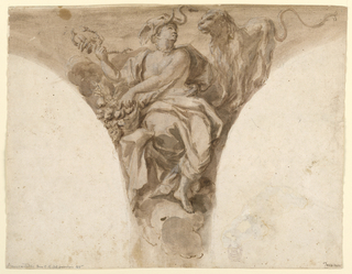 Drawing, Africa, Design for a Pendentive in the Baptismal Vestibule of St. Peter's, Rome